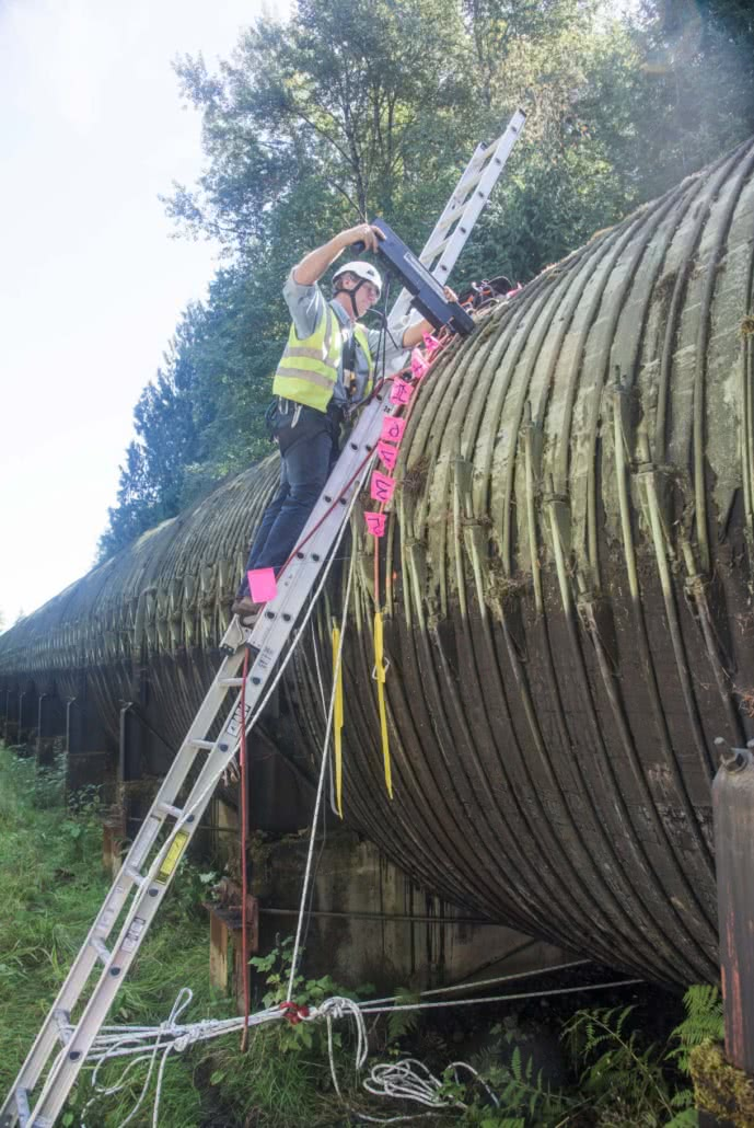 Resistograph wood pipe testing